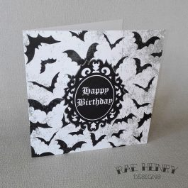 Gothic Bats Birthday Card