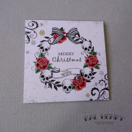 gothic christmas card