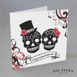 sugar skulls congratulations card