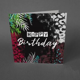 tropical grunge birthday card