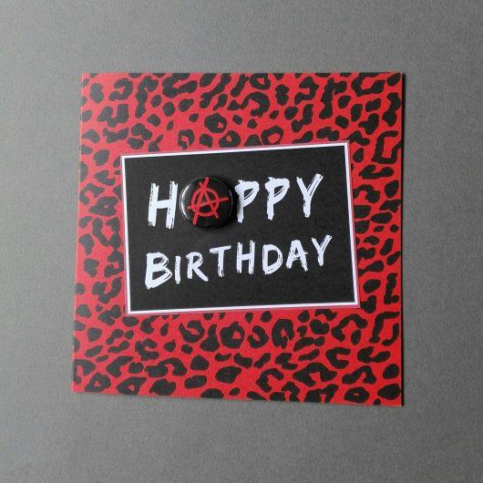 Punk Badge Birthday Card