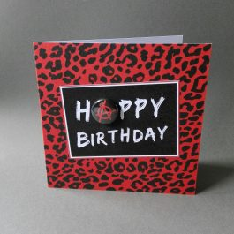 Punk Badge Birthday Card