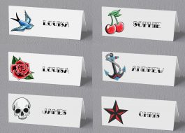 tattoo place cards