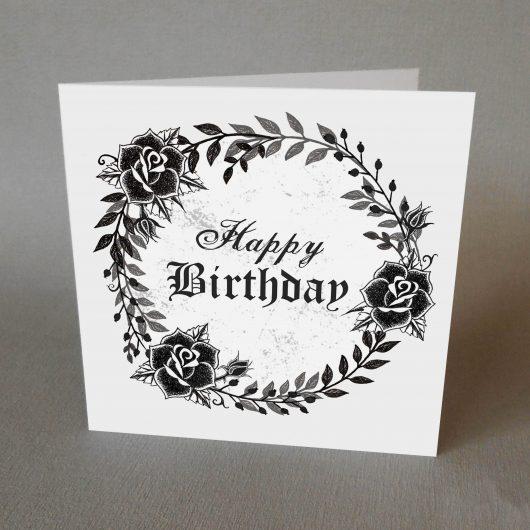 Gothic Wreath Birthday Card