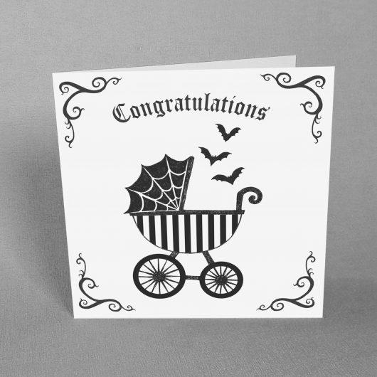 Goth New Baby Card