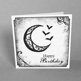 Gothic Moon Birthday Card