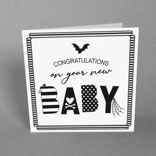 Spooky New Baby Card