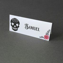 sugar skull place cards
