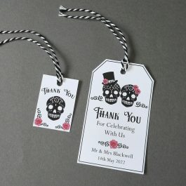 Gothic Sugar Skull Favour Tags