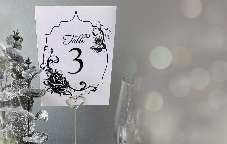 black rose wedding decorations
