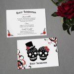 gothic sugar skulls invitations
