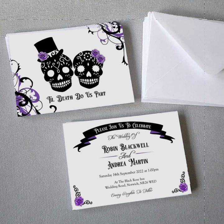 gothic sugar skulls