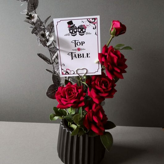 Gothic Sugar Skull Table Numbers