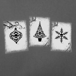 gothic christmas art prints