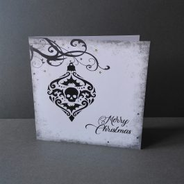 gothic christmas card bauble