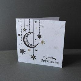 Gothic Moon Christmas Card